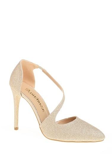 D by Divarese İnce Topuklu Ayakkabı Altın